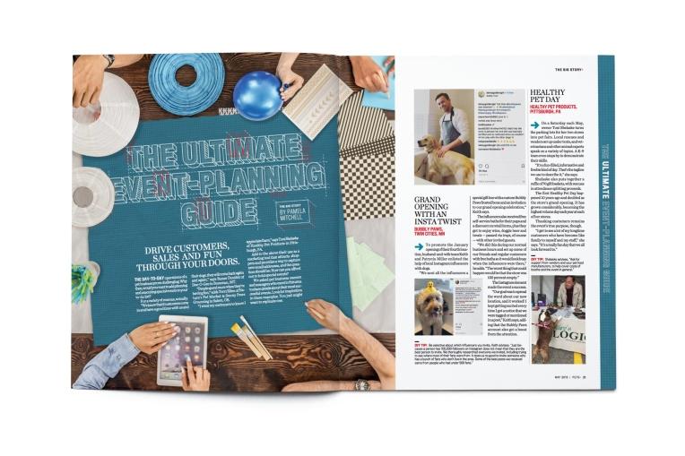 Blank open magazine isolated